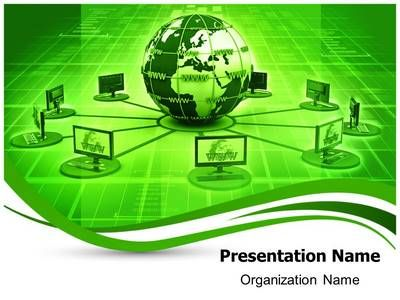 29 best green earth powerpoint templates and themes images on graphs and diagrams slides to give professional look to you presentation this global computer network ppt template design is used by many professionals toneelgroepblik Gallery