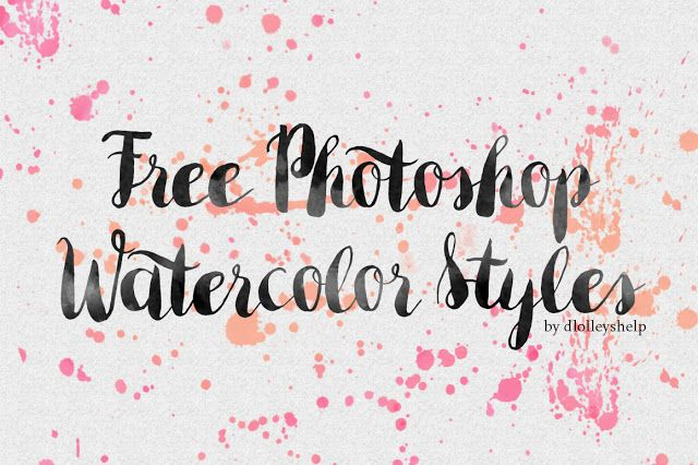 Free Photoshop Watercolor Styles http://www.templatemonster.com/blog/watercolor-freebies/