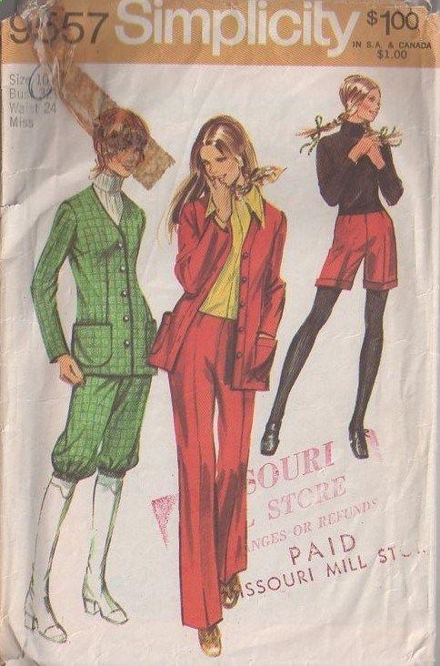 MOMSPatterns Vintage Sewing Patterns - Simplicity 9557 Vintage 70s ...