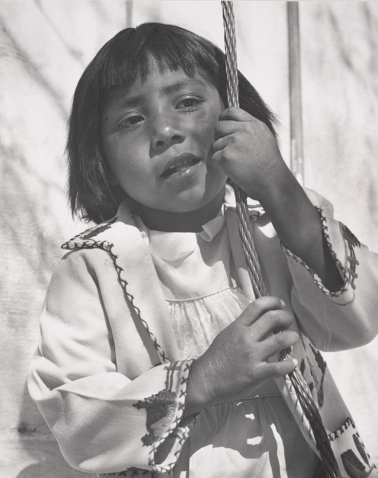 Little Papago Indian Girl, Mission San Xavier del Bac, Tucson, Arizona (1953)