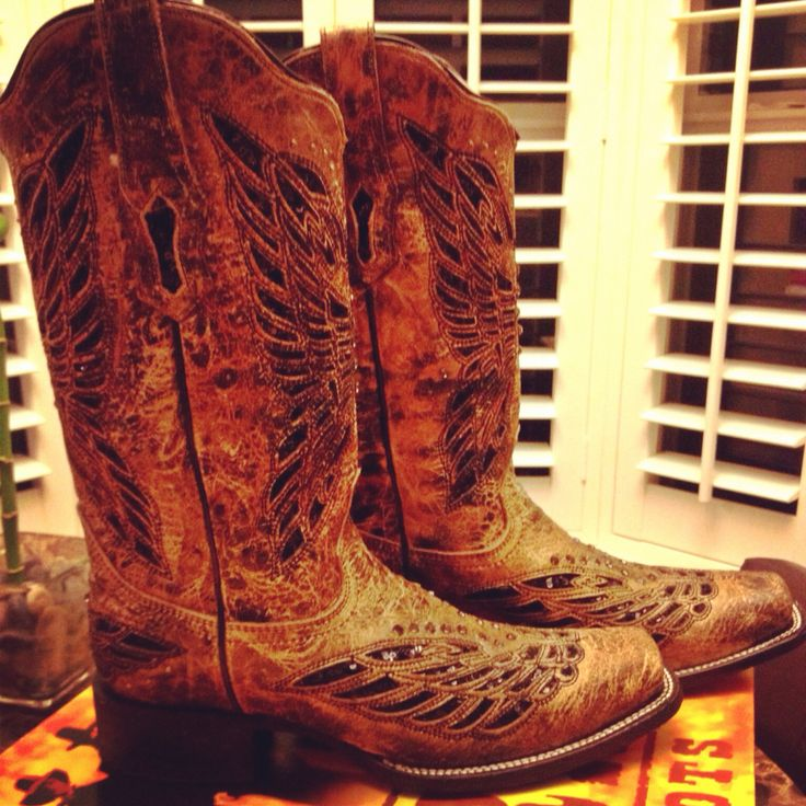 corral brown and black rhinestone cowboy boots
