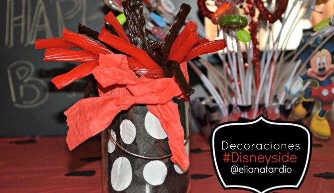 Porta Dulces Estilo Mickey Mouse para los licorettes negro  y rojo