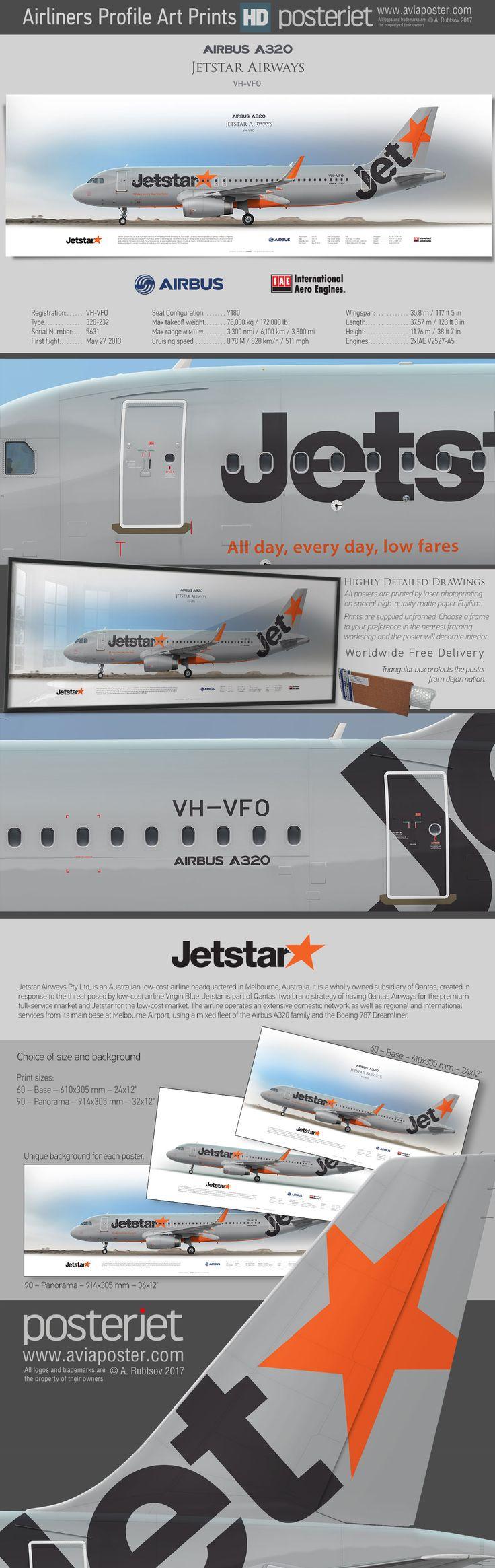 Airbus A320 Jetstar Airways VH-VFO   www.aviaposter.com   #aviation #jetliner #airplane #pilot #aviationlovers #avgeek #jet #airport #pilotlife #cabincrew