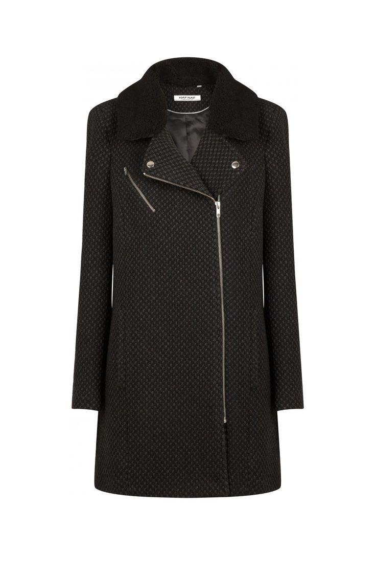 Manteau perfecto noir - droits femme - naf naf 1