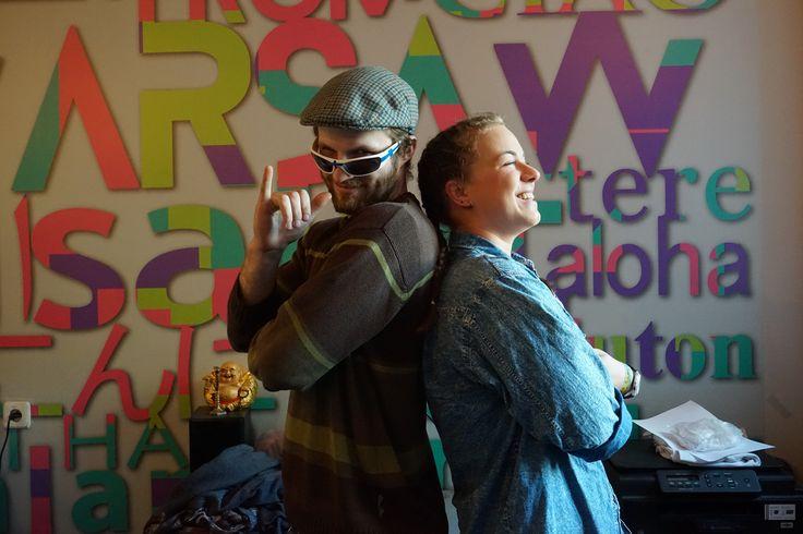 Patchwork Hostel Staff! Jaco & Kasia!