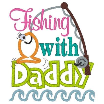 Little Girl Fishing Clipart