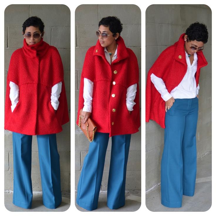 mimi g.: DIY Red Cape + DIY Pants: Pattern Review V8776