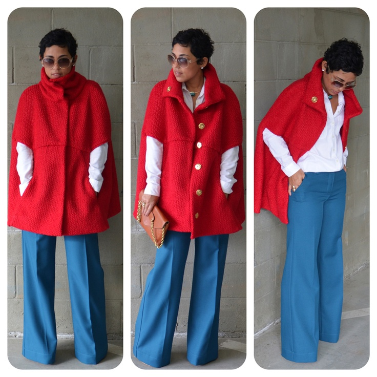 DIY Red Cape + DIY Pants: Pattern Review V8776