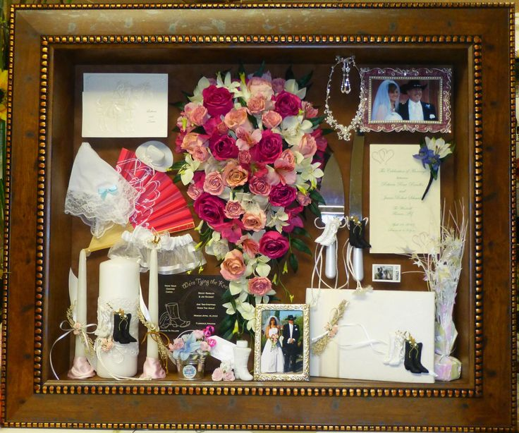 Freeze Dried Preserved Wedding Bouquet Flowers In Our Custom Shadow Box Www