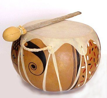 Gourd Crafting techniques - Making Drums from gourds by Bonnie Gibson on the Arizona Gourds website.  http://www.arizonagourds.com/DrumMaking.html