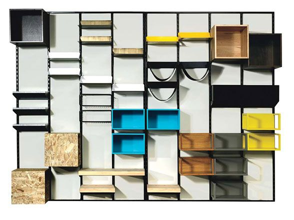 Mix and match shelves with this storage unit designed by Domison.