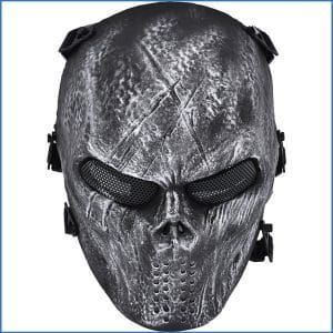 Outgeek Airsoft Mask Scary Skull Outdoor Full Face Mask