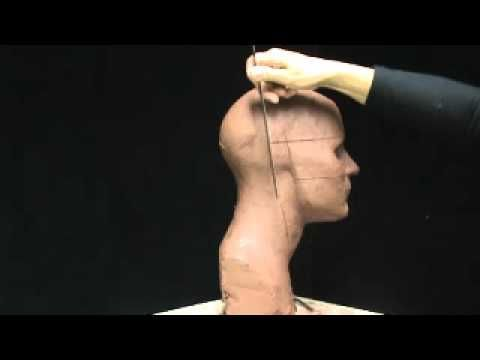 """Proportions of the face and head. Sculpting a head in clay. Basic facial proportions""This demo will show you how to establish basic proportions of the head and face.   Facial proportions. Demo by Joanna Mozdzen.  www.joannamozdzen.com"
