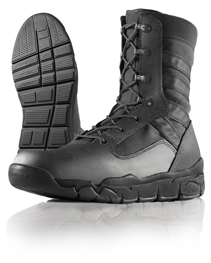 Wellco Black Hot Weather E-Light Combat Boot - B120