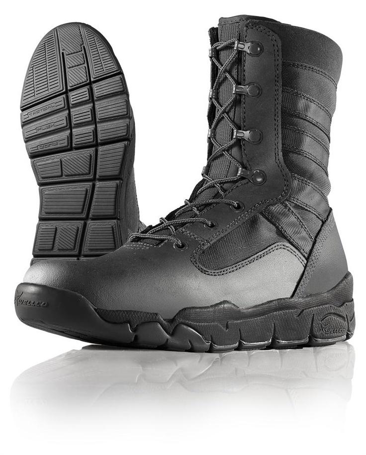 Wellco Black Hot Weather E-Light Combat Boot - B120