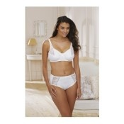 Contemporary Embroidered Underwire Bra - Champagne - Up to size 44F