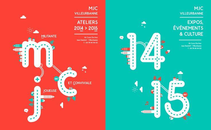 MJC Villeurbanne - Editorial Design on Behance