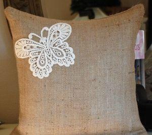 Jute Burlap vintage linen cushion cover CL-013-Ollko linen by ollkolimited