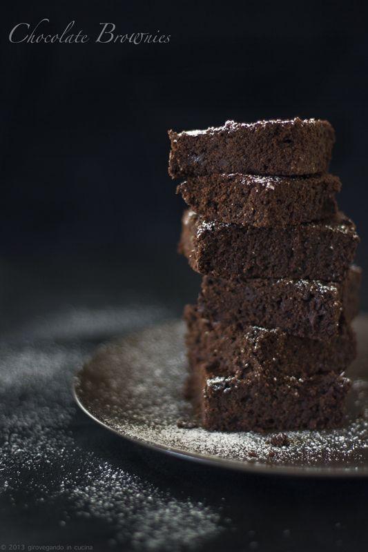 giroVegando in cucina: Chocolate brownies Vegan chocolate brownies