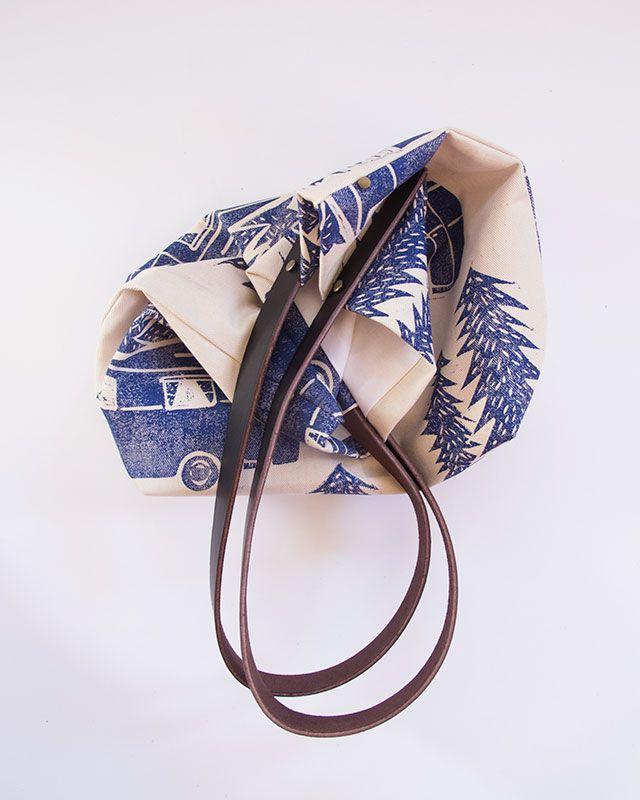 Block Print Workshop Bag - print by Claire Brear