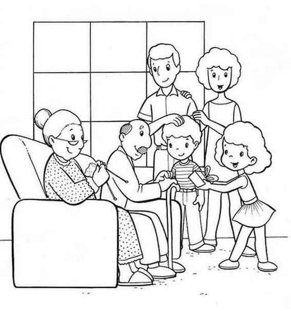 Family Time Coloring Pages For Kids Family Coloring Pages Family Drawing Family Picture Drawing