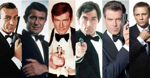 James Bond's in Order | James Bond Actors Will Not Reunite At The Academy Awards - CinemaBlend ...