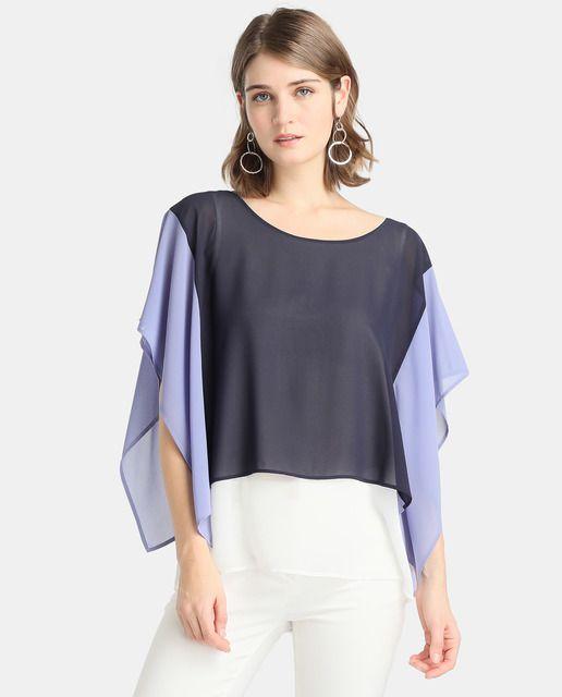 a7025e6b7d35 Blusa de mujer Zendra El Corte Inglés con estampado color block ...