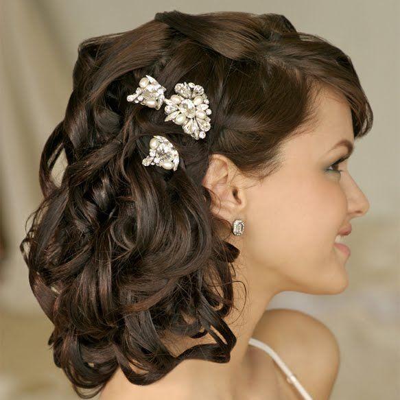 Wedding hairstyles for medium length hair.