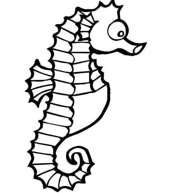 40 Seahorse Shape Templates Crafts Colouring Pages Bricolage Ete