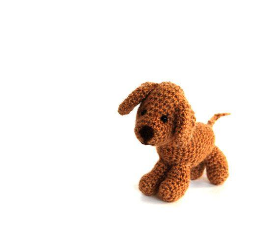 crochet #VIZSLAdog, miniature vizsla puppy, mini dog figurine, collectible doggie, amigurumi pet, #stuffeddogdoll, tiny dog soft, dog lover gift by crochAndi