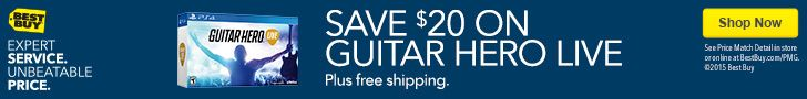 Save $20. on guitar hero live plus other gaming deals