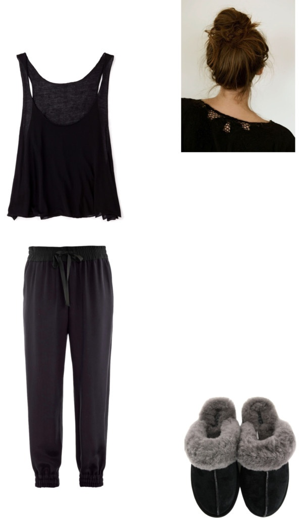 """Lazy Day At Home"" by tanya-prudhomme ❤ liked on Polyvore"