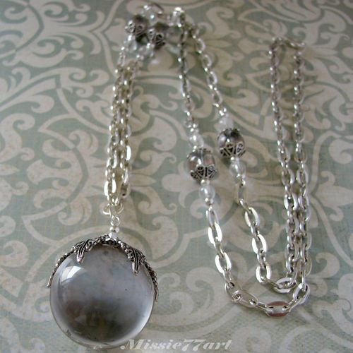 Pools of Light Clear Quartz Victorian Inspired Snowflake Necklace - Gift Boxed$149.95