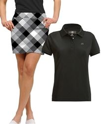2-piece silver & black #golf outfit | #golf4her.com, need this golf outfit!!!
