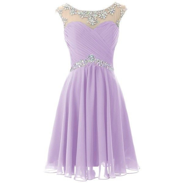 Dresstells Short Prom Dresses Sexy Homecoming Dress Chiffon Birthday... ($40) ❤ liked on Polyvore featuring dresses, sexy party dresses, purple prom dresses, short dresses, purple homecoming dresses and sexy birthday dresses