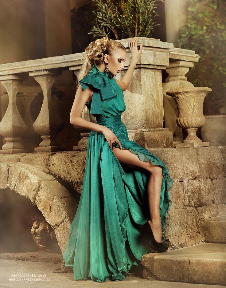 Greek woman in long dress | glamour, model, woman, blonde ...