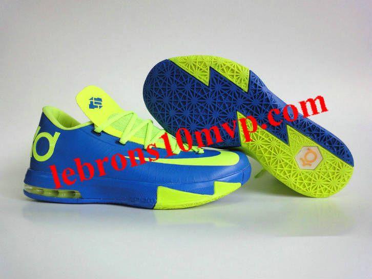 608f598869 Nike KD V shoes  KD VI Superhero Hyper Blue Volt Blackened Blue