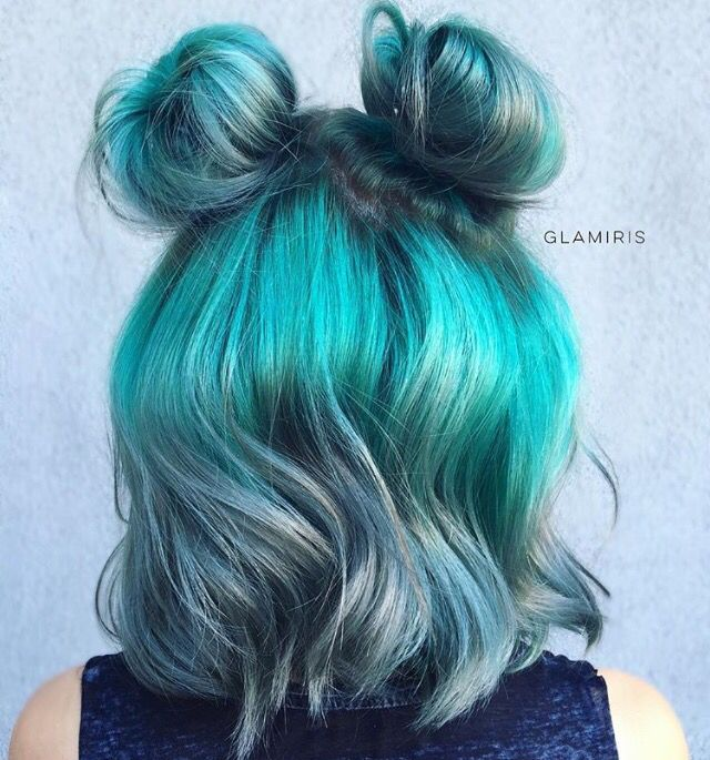 Sensational Best 25 Short Teal Hair Ideas On Pinterest Short Green Hair Short Hairstyles Gunalazisus