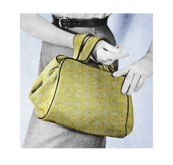 Vintage 1950s Custom Purse Doctor Bag Satchel Handbag DIY Sewing Pattern PDF. $3.50, via Etsy.