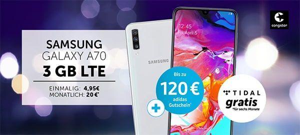 Congstar Allnet Flat 3gb 4gb Lte Mit Top Dealz Bis 50 Im 25 Lte Tarif Samsung Galaxy A70 Fur 4 95 Samsung Galaxy A50 Handyvertrag Samsung Telekom