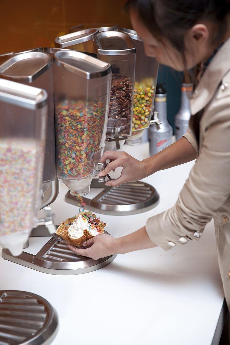 Ice cream in Japan #ice cream #topping #dispensers