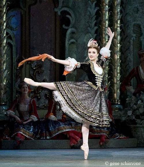 Irina Dvorovenko in The Merry Widow, American Ballet Theater. Photo by Gene Schiavone.