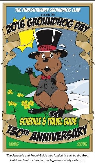 Groundhog Day 2016: Punxsutawney just published the official event guide at groundhog.org. See more there or on the Groundhog Blog at LOVEgroundhogs.com.