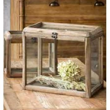 Rustic Wooden Display Cases
