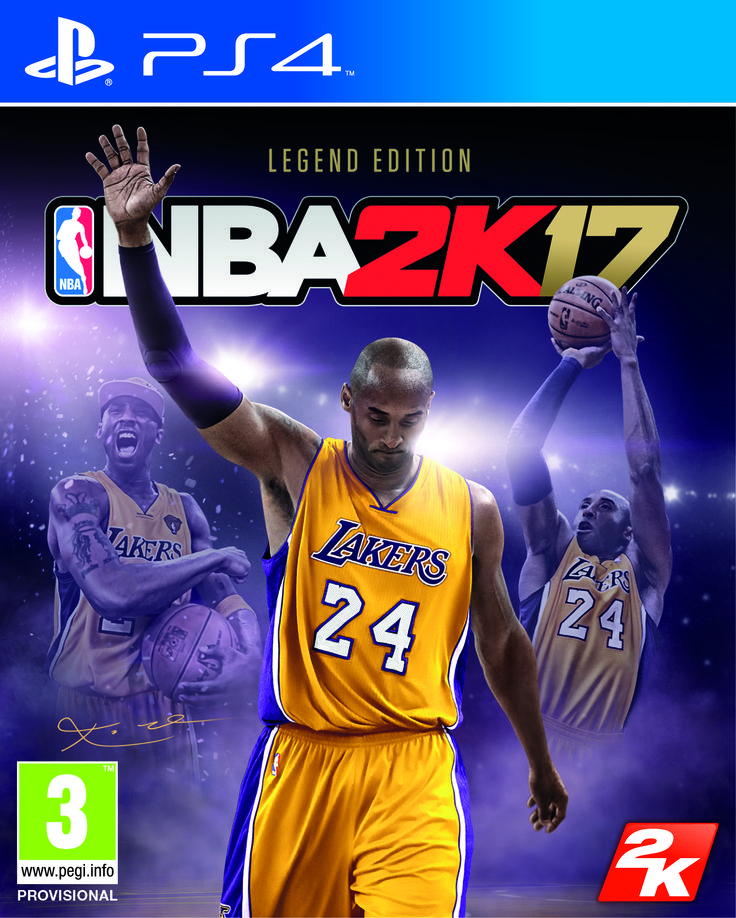 2K announced today that NBA 2K will celebrate the renowned basketball legacy of the Los Angeles Lakers' Kobe Bryant by featuring the 18-time NBA All-Star on the cover of the NBA 2K17 Legend Edition. This special edition of the top-rated NBA video game simulation series for the last 15 years* will hi