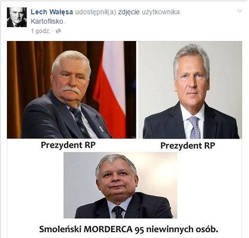 Wałęsa prowokuje- skandaliczna grafika została udostępniona na jego oficjalnym profilu | wDolnymŚląsku.com