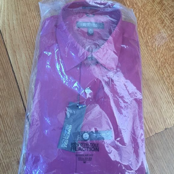 PURPLE SHIRT IN PACKAGING! Purple shirt for unisex wearers!!! Never opened! Still in packaging! Sizing as seen in pic Kenneth Cole Tops