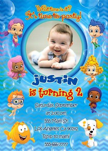 Bubble Guppies printable invitation