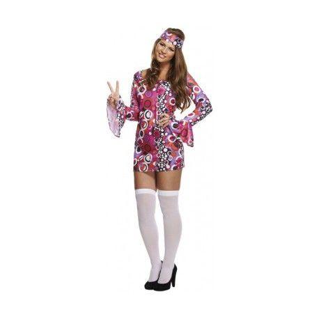 Met dit foute hippie girl kostuum kun jij je vertonen op elke fout feest. Het kostuum brengt je terug na de hippie jaren en zou in die tijd zeker niet hebben misstaan. Dit flower power hippie kostuum is een aanwinst op elke foute party.  Het hippie girl kostuum bestaat uit een flower power jurk inclusief bijpassende hoofdband.