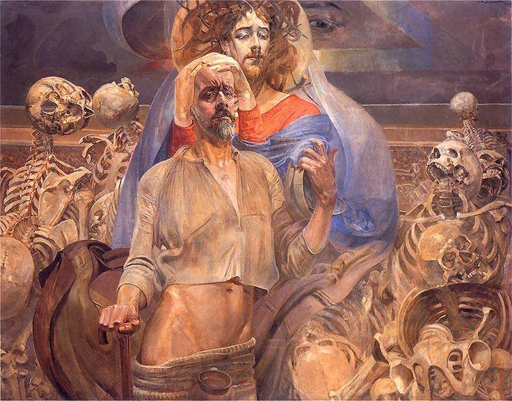 The prophecy of Ezekiel by Jacek Malczewski, 1919